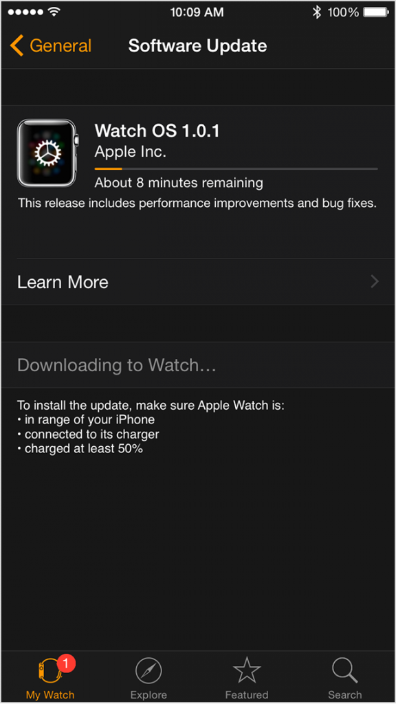 Apple Watch Update4